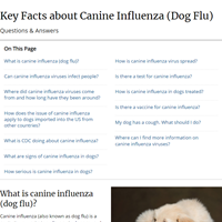 Key Facts about Canine Influenza (Dog Flu)   SeasonalInfluenza (Flu)   CDC