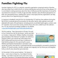 Flu Partner Success Stories: Families Fighting Flu