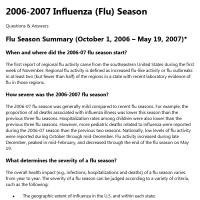 Past Flu Seasons: 2006-2007 Flu Season